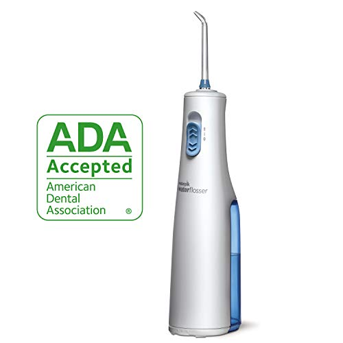 Waterpik Cordless Water Flosser, Battery Operated & Portable for Travel & Home, ADA Accepted Cordless Express, White WF-02