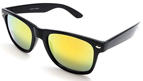 Unisex Mirror Classic Wayfarer Sunglasses - Blues Brothers Mambo - Sun Blues Glasses Brothers