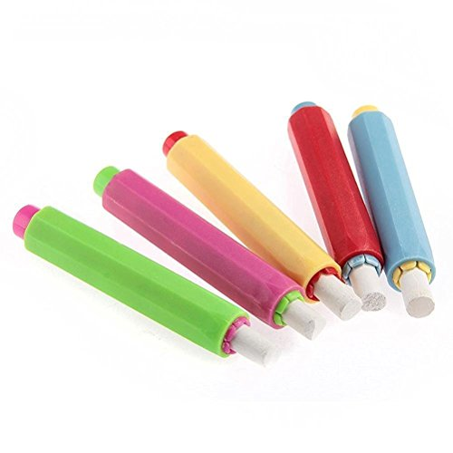Qingsun 5 PCS Chalk Holder Case Cover for Plastic School Adjustable Replacement Chalk Cover ()
