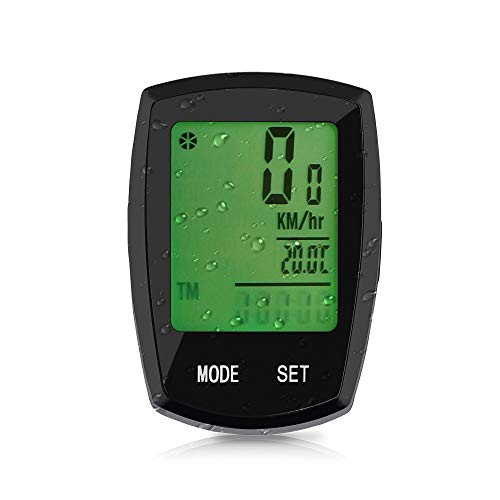 Bike Computer Thorfire Wireless, Bicycle Speedometer and Odometer Waterproof Cycle Computer with LCD Backlight Display, Automatic Wake-up, Multi-Functions