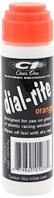 ClearOne DRP3 Dial-Rite Orange Window Marker - 1 oz.