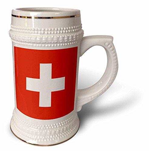 InspirationzStore Flags - Flag of Switzerland - Swiss red and white cross - Europe - European country - world travel souvenir - 22oz Stein Mug (stn_158442_1)