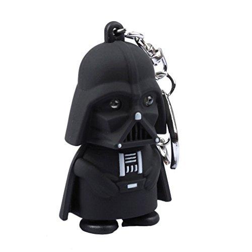 Star Wars Darth Vader Keychain with LED Flashlight & Sound]()