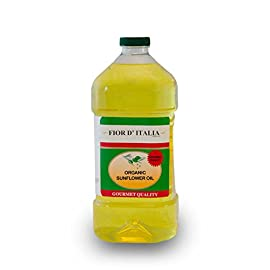 Cibaria Fior D'Italia Organic Sunflower Oil - 2 ltr. 2 Gourmet Sunflower Oil, Certified Organic Vitamin A & E, Rich Essential Fatty Acids Delicious and Healthy!