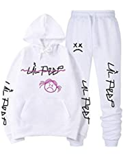 East-hai-buy Mannen/vrouwen Lil Peep Hoodie Sweatshirt Sets, Winter Warm Fleece Joggingbroek Past Lil Peep Hip Hop Pullover Hooded Tops