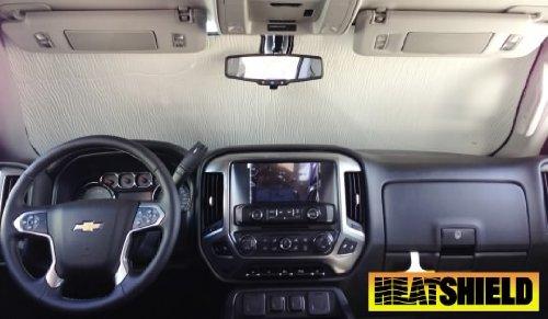 Sunshade for 2014 2015 2016 2017 Chevrolet Silverado 1500 2500 w/o Windshield-Mounted Sensor Windshield Custom-fit Sunshade #1442