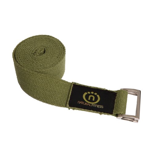 Natural Fitness Hemp Yoga Strap (Olive 8-Feet)