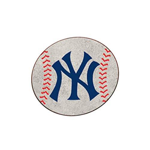 FANMAT MLB - New York Yankees Baseball Mat 27 Inch Diameter Non Skid Rug Mat Floor Protector ()