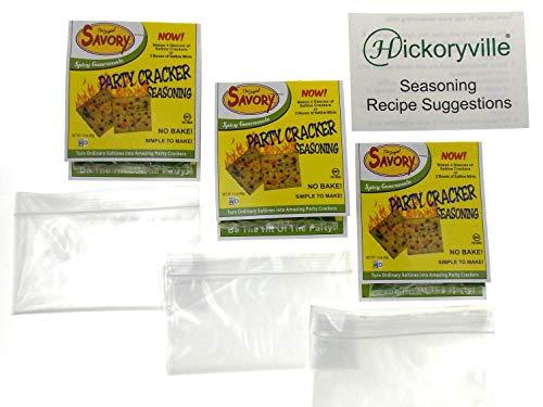 Spicy Guacamole Flavor Savory Saltine Seasoning 1.4 Ounce Bundle, 3 Packs + 3 Zip Top Bags + Recipes Card]()