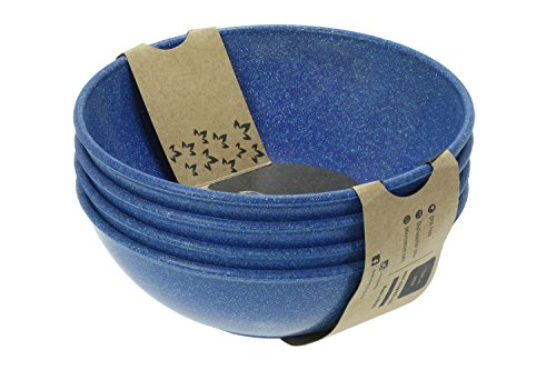 EVO Sustainable Goods 935 Dinnerware Bowl Set, 24 oz, Blue by EVO Sustainable Goods (Image #1)