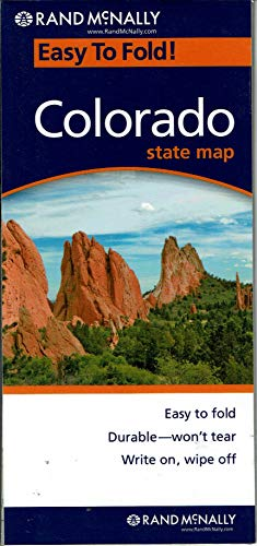 Colorado State Map: Durable/Won't Tear; Write On/Wipe Off (Fort Collins To Rocky Mountain National Park)