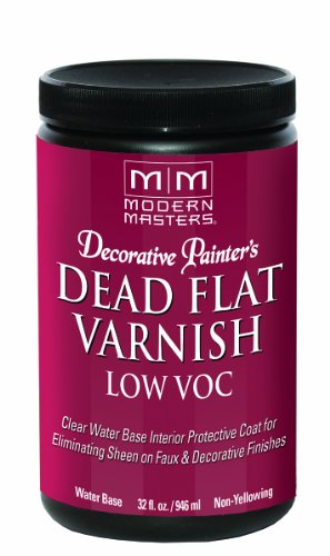Modern Masters DP40032  Interior Dead Flat Varnish Low VOC Quart