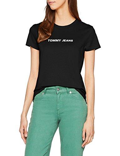 Jeans Tjw Crew Tommy Black Vestaglia Tee 078 Donna Tommy Logo Nero P5qW4wxPdE