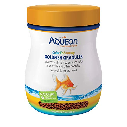 - Aqueon Goldfish Food Color Enhancing Granules, 3-Ounce