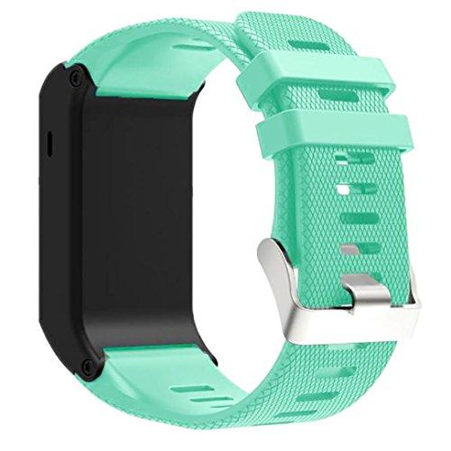 Creazy New Fashion Sports Silicone Bracelet Strap Band For Garmin vivoactive HR (Mint Green)