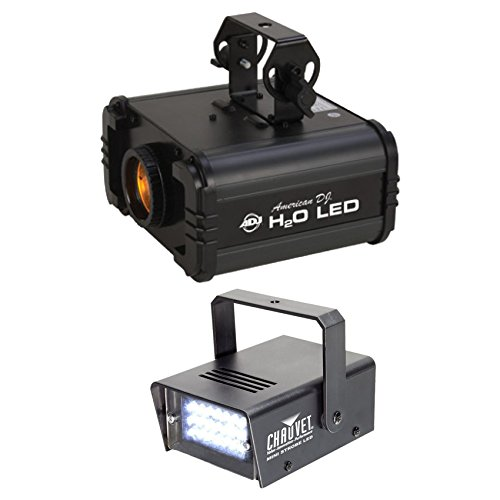 Package: American DJ H20 LED IR Multi Color DJ Light+Chauvet DJ MINI STROBE LED Compact Easy-to-use Strobe Light