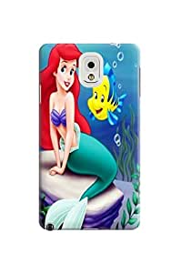 Premium characters protective tpu phone hard case/cover/shell with texture for Samsung Galaxy note3(The Little Mermaid)by Shari Flanders