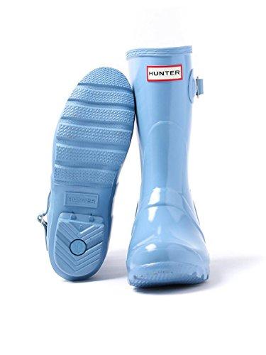 Hunter - Botas De Lluvia Cortas, Originales, Brillantes, Azul Pálido