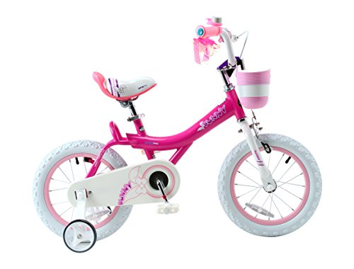 Royalbaby Bunny Girl's Bike, 16 inch wheels with basket and training wheels training wheels, gifts for kids, girls' bicycles, Fuchsia