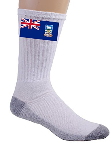 (Falkland Islands - World Country National Flags - Crew Socks )