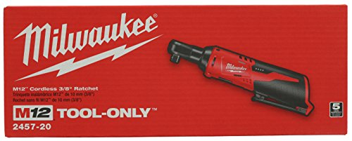 Milwaukee-2457-20-M12-Cordless-3-8-Sub-Compact-35-ft-Lbs-250-RPM-Ratchet-w-Variable-Speed-Trigger-Battery-Not-Included-Power-Tool-Only