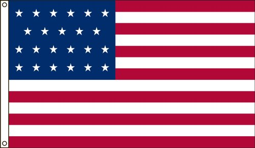 America's Flag Company 3-Foot by 5-Foot Nylon 23 Star United States Historical Flag with Canvas Header and Grommets