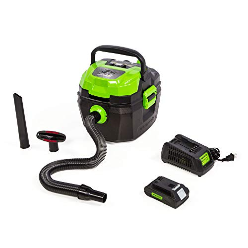 24V Cordless Wet/Dry Shop Vacuum, 2.0 Ah Battery Included BV