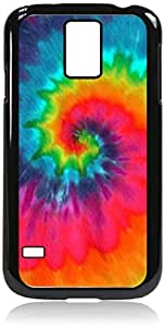 Zheng caseTie-Dye Splash- Case for the Galaxy S5 i9600- Hard Black Plastic Snap On Case