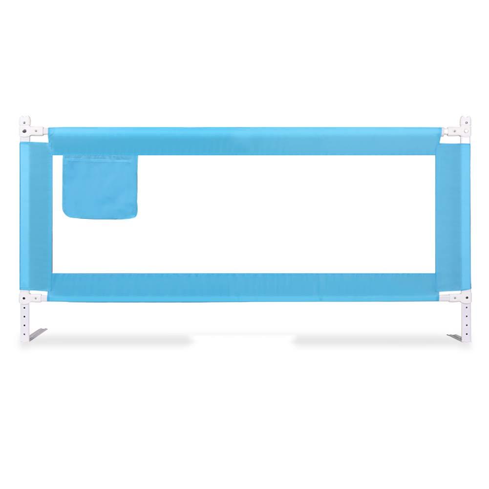 ベッドレールベビーシャッター抵抗フェンス1.8-2メートルベッドブロックベビーチャイルドバッフルガードベッドガードレール垂直持ち上げ5ファイル増加 (色 : 青, サイズ さいず : 2m) 2m 青 B07L4RYY4Y