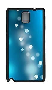 Samsung Note 3 Case Blue Light Circles PC Custom Samsung Note 3 Case Cover Black