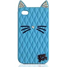 TISHAA Samsung Galaxy Note 5 Case, So Cute Lovely Bling Cat Protective Soft Skin Cover Silicone Rubber Cell Phone Case (Bling Cat - Blue)