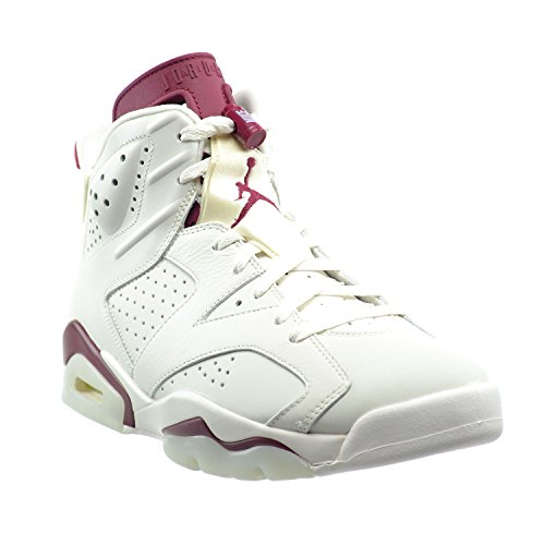 Nike Air Jordan 6 Retro, Zapatillas de Deporte para Hombre off white/new maroon