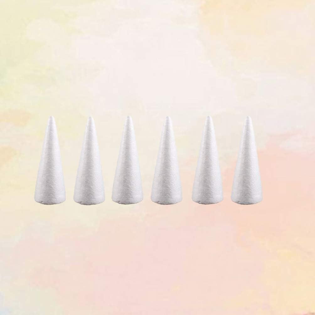 Coni in schiuma bianca geometrica fai da te per bambini 24.5 Amosfun 10cm-6pcs bianco