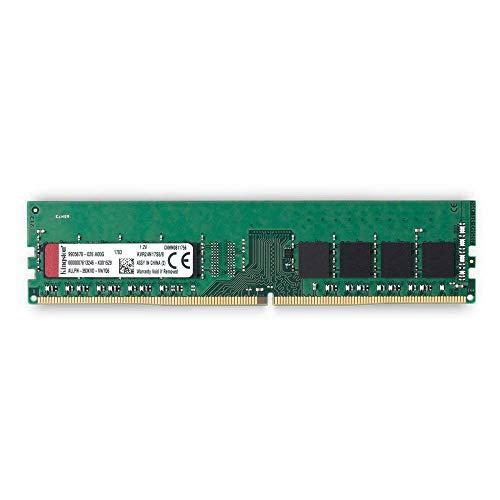 - Kingston ValueRAM 8GB 2400MHz DDR4 Non-ECC CL17 DIMM 1Rx8 Desktop Memory (KVR24N17S8/8)