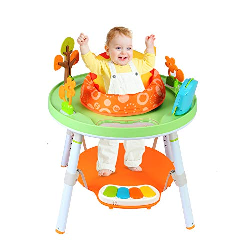 COLOR TREE Baby 3-Stage Jumper Activity Center More Baby's View Multi-Function Jump&Rocking Chair,Multi-Colored