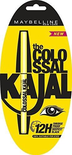 Maybelline- Colossal Kajal Eyeliner Pencil Black (Pack of 6) - Fast Shipping