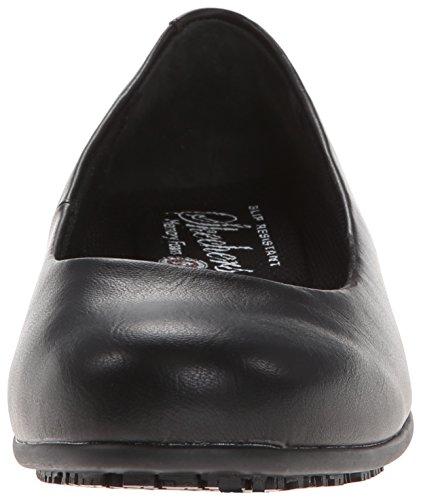 Skechers Womens Flattery Transpire Slip Resistant Shoe Black