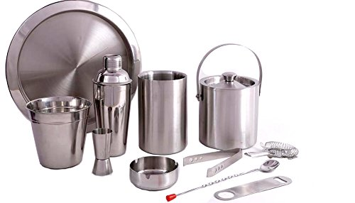 King International Stainless Steel All in one Bar Set of 11 Pieces by King International