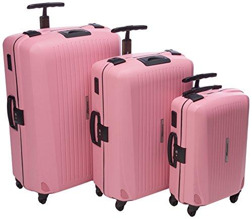 HAUPTSTADTKOFFER Set di valigie, 75 cm, 260 L, Rosa