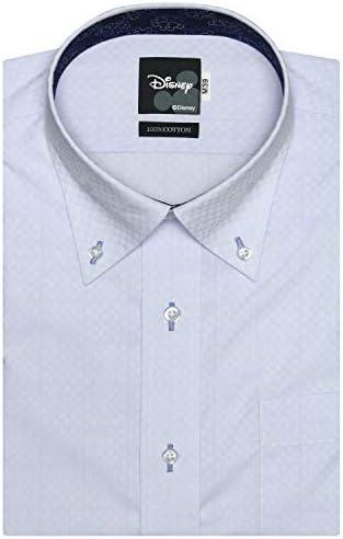 ブリックハウス Disney ディズニー ワイシャツ 半袖 形態安定 ボタンダウン Just Style メンズ BM010205AB46B4D-10