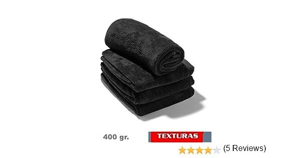 TEXTURAS - 2X1 - Toalla GYM Peluquería 400 gr/m2 Color NEGRO O BLANCO Algodón 100% 100X50 cms (BLACK): Amazon.es: Hogar
