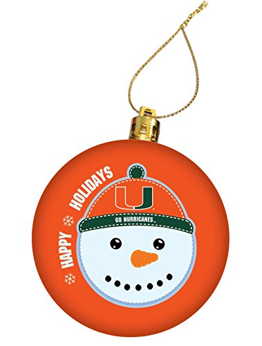 University of Miami Holiday Christmas Ornament