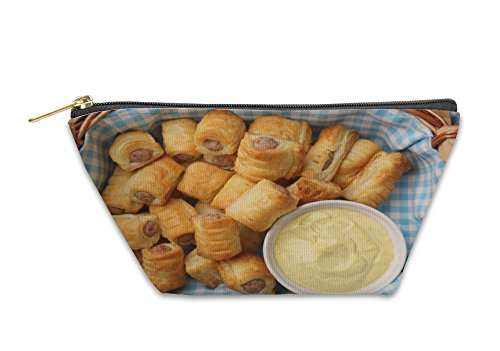 Gear New Accessory Zipper Pouch, German Frankfurter Sausages In Puff Pastry With Mustard Sauce, Small, 5982697GN