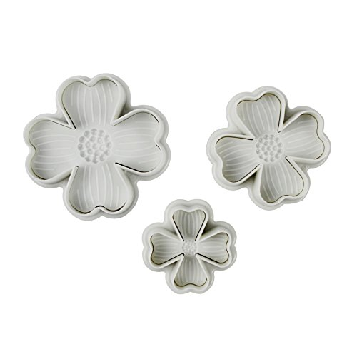 (Verdental DIY Cake Plunger Cutter Molds Sugarcraft Cake Decorating 3-pieces (Four-leaf Clover)