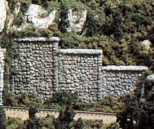 Woodland Scenics C1161 Random Stone Retaining Walls (6) N...
