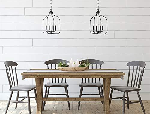 Farmhouse Ceiling Light Fixtures Kira Home Carson 20.5″ 4-Light Modern Farmhouse Foyer Light Pendant, Lantern Style Chandelier, Galvanized Black Finish farmhouse ceiling light fixtures
