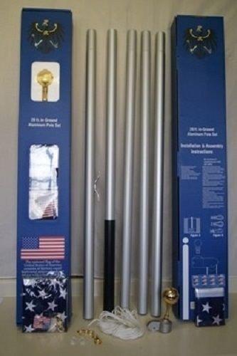 期間限定特別価格 20 ' ' ' Sectionalホワイトスチール旗竿旗ポールキット20 ' B01MQWJTIR B01MQWJTIR, カムカム:d8485f82 --- domaska.lt