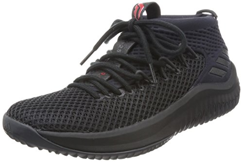 Adidas Hombres Dame 4, Negro / Core Black / Red Black / Core Black / Red