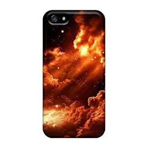 USMONON Phone cases Hot Tpye Fire Sky Case Cover For Iphone Iphone 5 5s