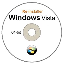 WINDOWS Vista Home Premium 64 - Bit Compatible Versions Re-install Windows Factory Fresh! Recover, Repair, Re Install - Restore Boot Disc ~ Fix PC - Laptop - Desktop ~ AIO DVD/ROM